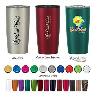Custom-printed promotional products.