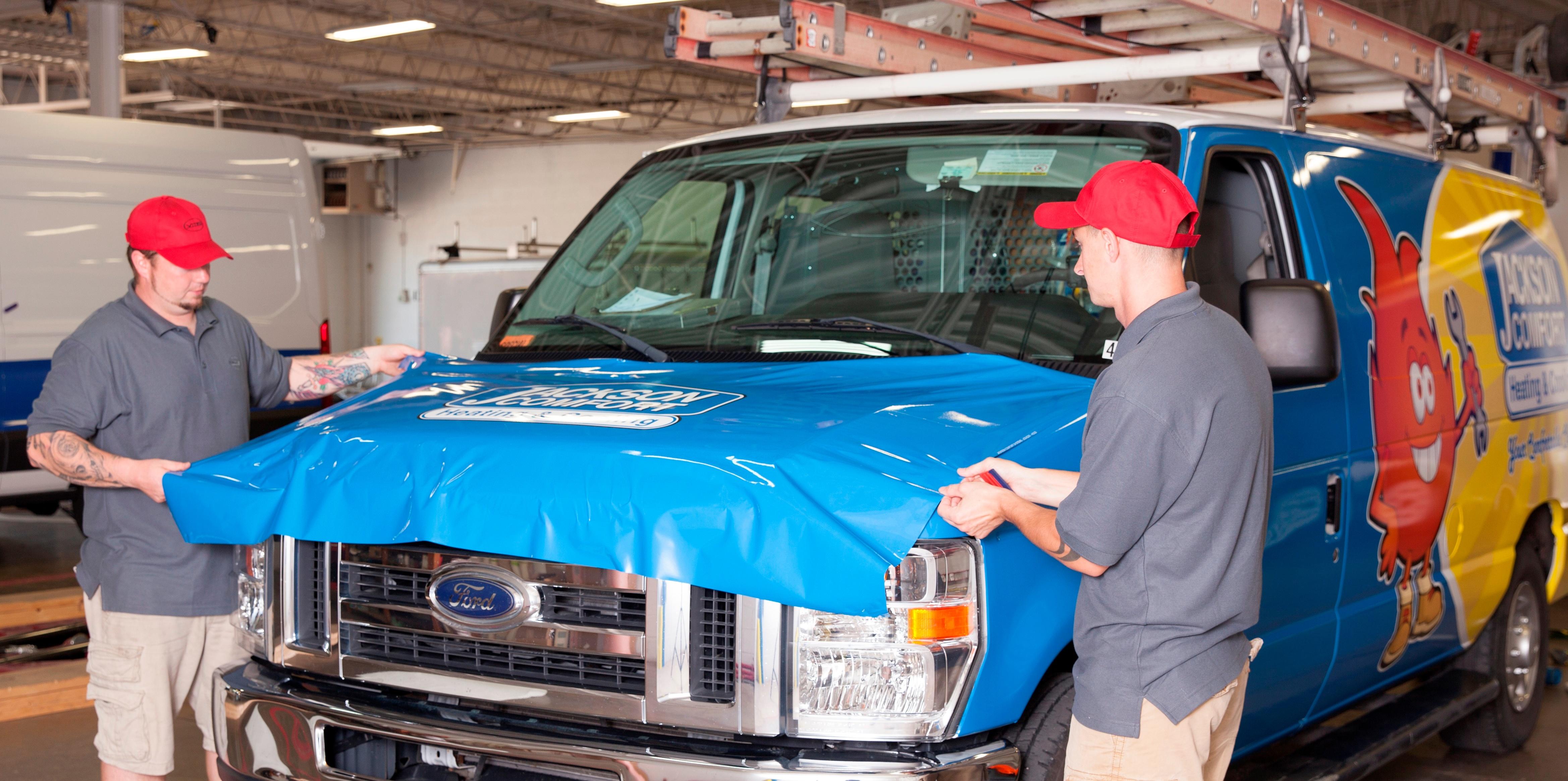 Vehicle Wrap Installation