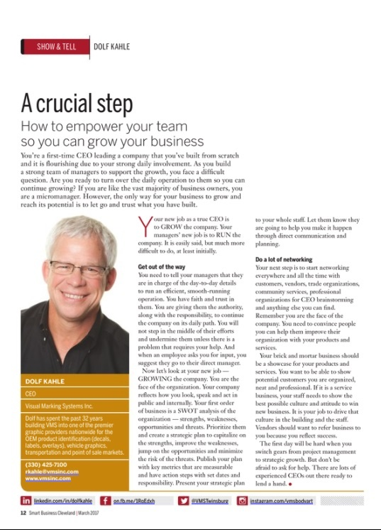 Smart Business Article Growing Your Business