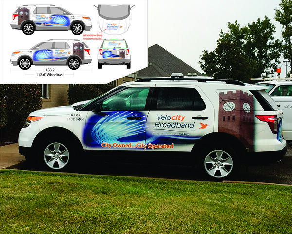 City of Hudson VeloCity Broadband Wrapped Vehicle