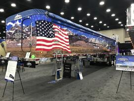Trailstar International Show Trailer at the Mid-America Trucking Show