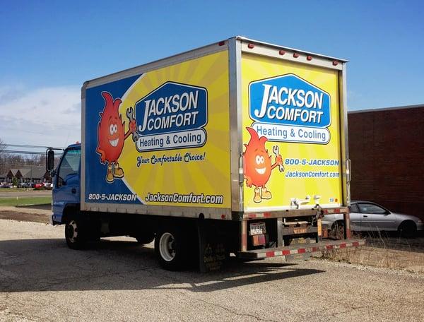 Full wrap on a box truck