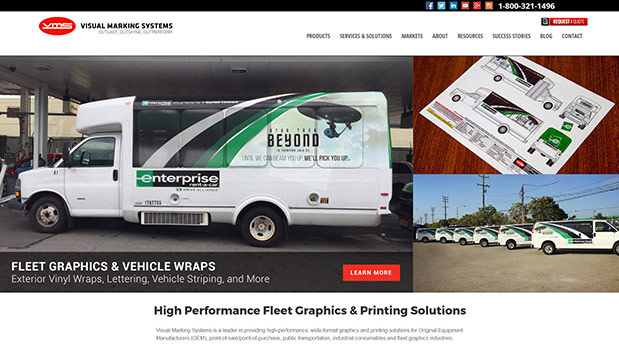 Visual Marking Systems Launches New Website